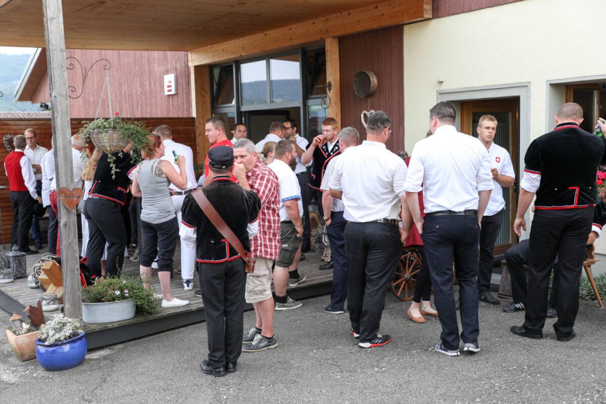 Beeindruckend, berührend! – Empfang Baselbieter Schwinger  © BLKSV / Denise Gschwind | Eidgenössisches Schwing- und Älplerfest Pratteln im Baselbiet | ESAF 2022