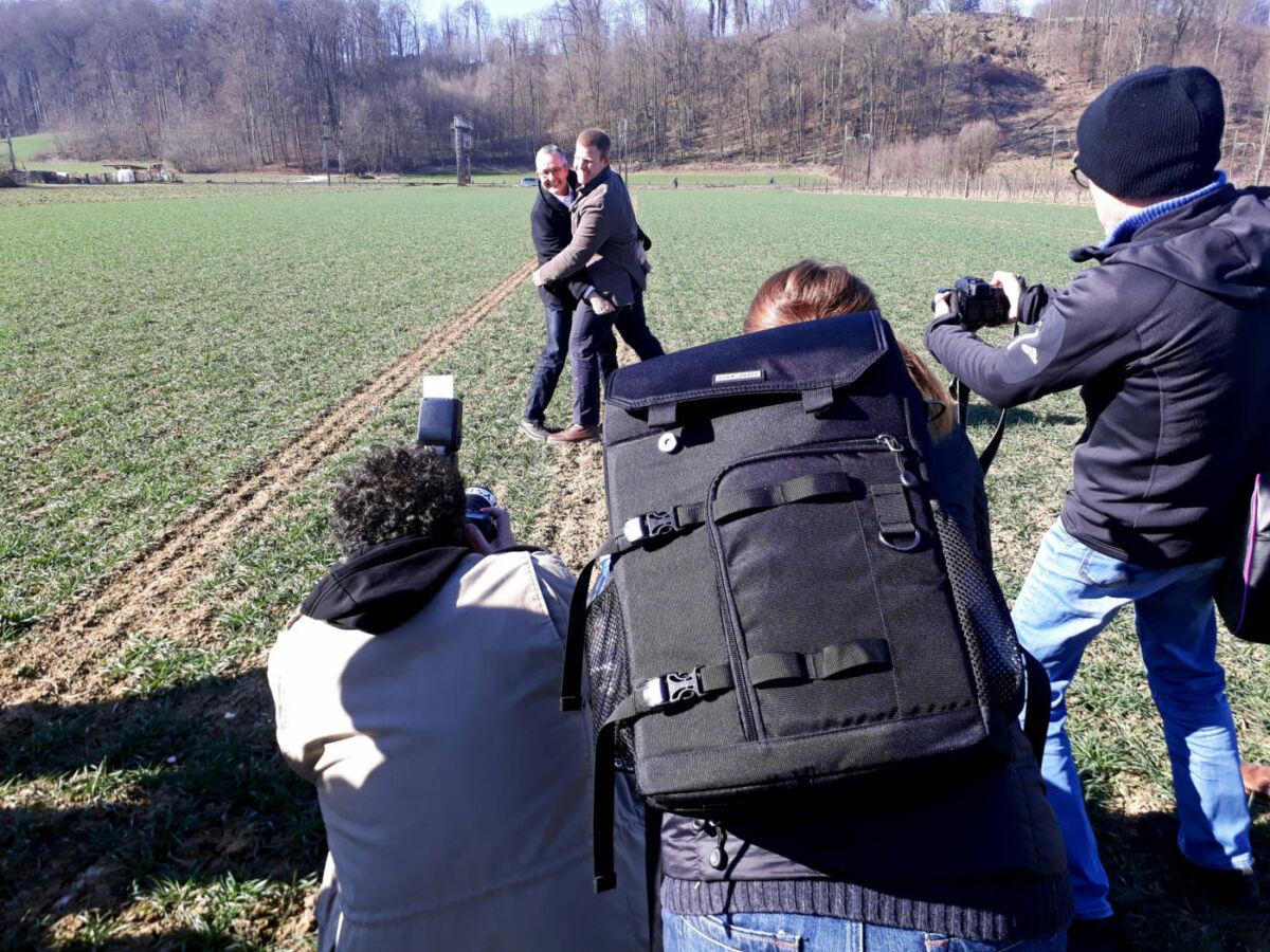Medienkonferenz mit Arealbegehung    | Eidgenössisches Schwing- und Älplerfest Pratteln im Baselbiet | ESAF 2022