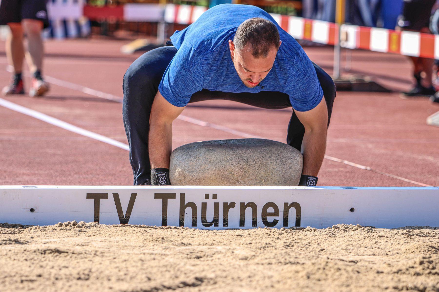 1. Qualifikation Steinstossen vom Samstag, 18. September 2021 in Thürnen BL, Eidgenössisches Schwing- und Älplerfest Pratteln im Baselbiet   ESAF 2022