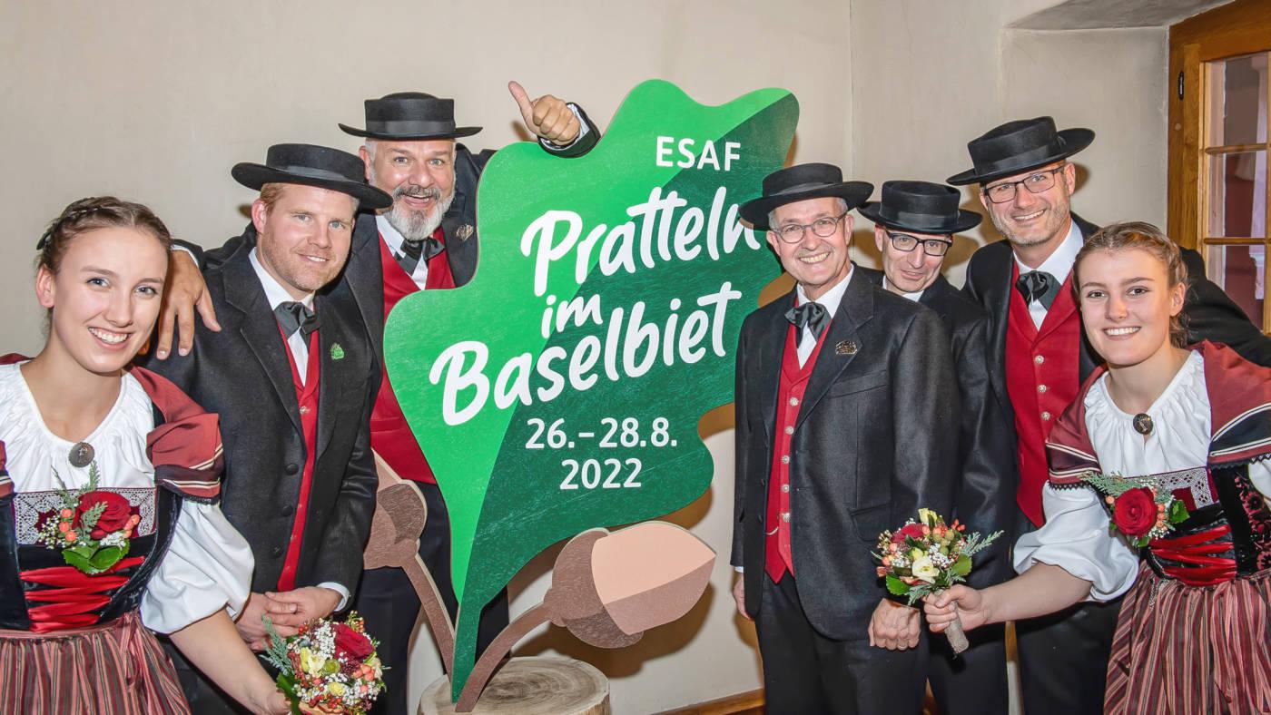 Offizielle Logopräsentation, Eidgenössisches Schwing- und Älplerfest Pratteln im Baselbiet | ESAF 2022