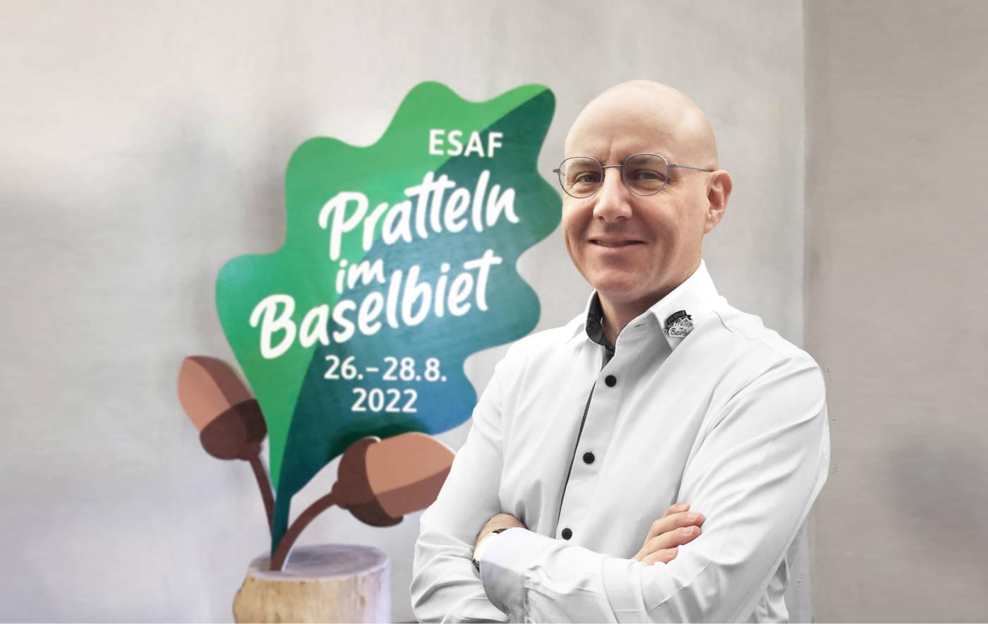 Das Eichenblatt als Symbol fürs Schwingen und die gastgebende Region    | Eidgenössisches Schwing- und Älplerfest Pratteln im Baselbiet | ESAF 2022